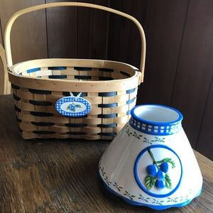 Basket and Blueberry Candle Topper/Shade
